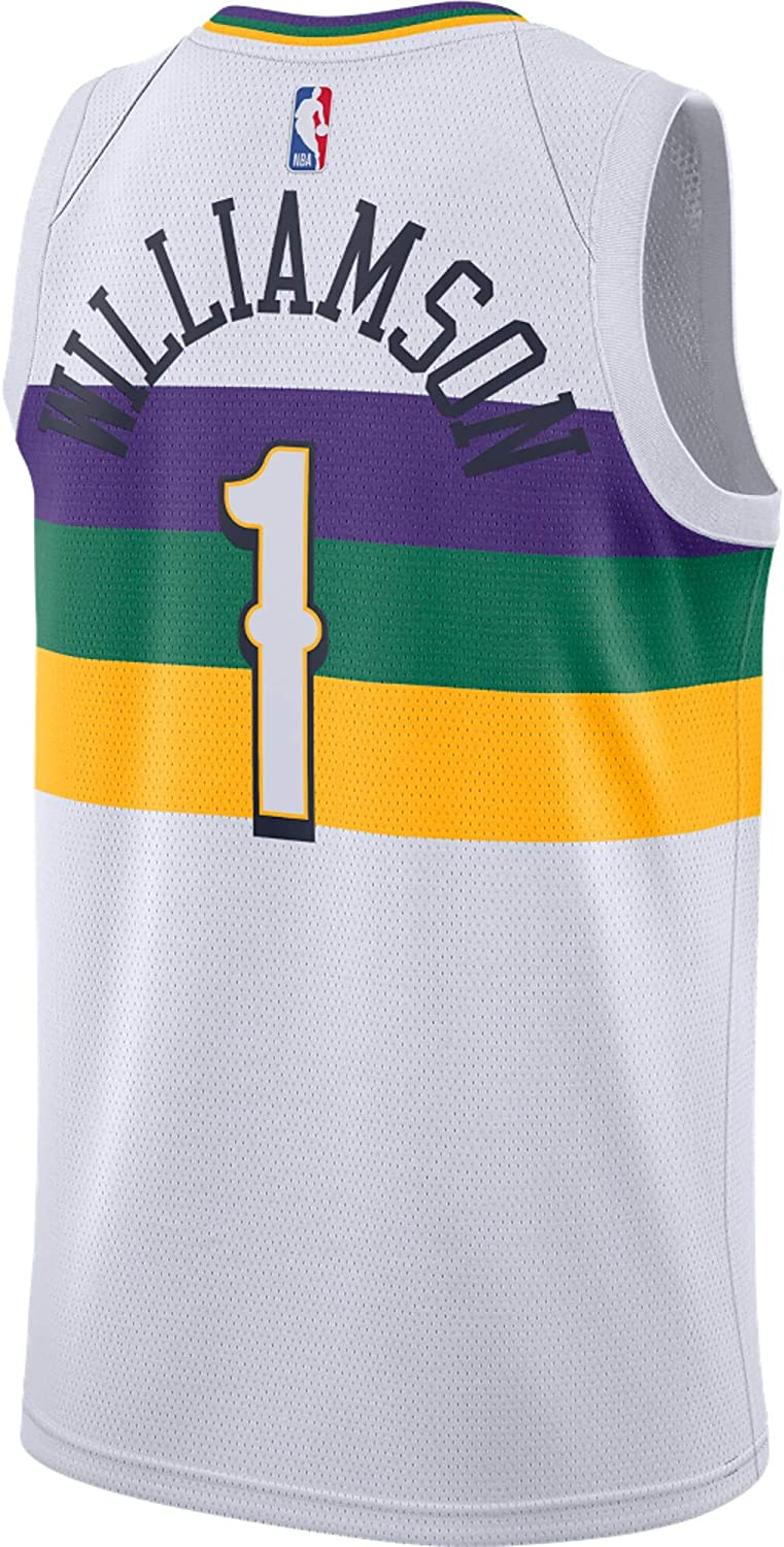 Zion Williamson New Orleans Pelicans #1 Youth 8-20 White City Edition Swingman Jersey