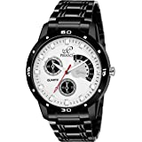 Piraso Analogue White Dial Men's Watch (2055-BK-CK)