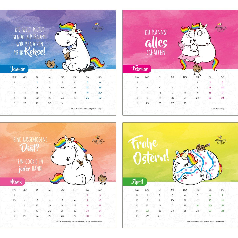 Pummeleinhorn Standkalender 2019 Keksdose 11 X 12 5 Cm Amazon