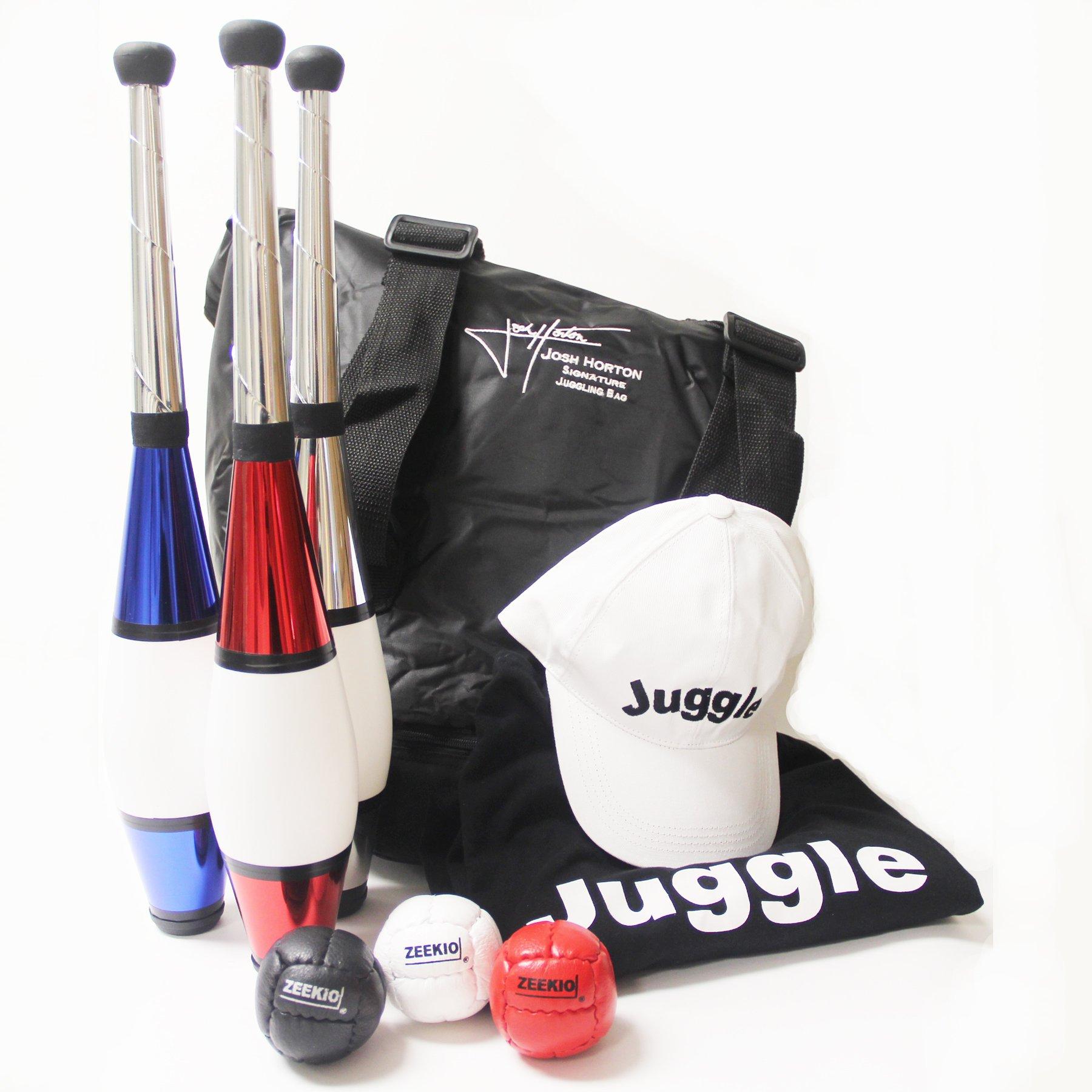 Zeekio Ultimate Juggling Gift Set - Clubs, Balls, Scarves by Zeekio (Image #1)