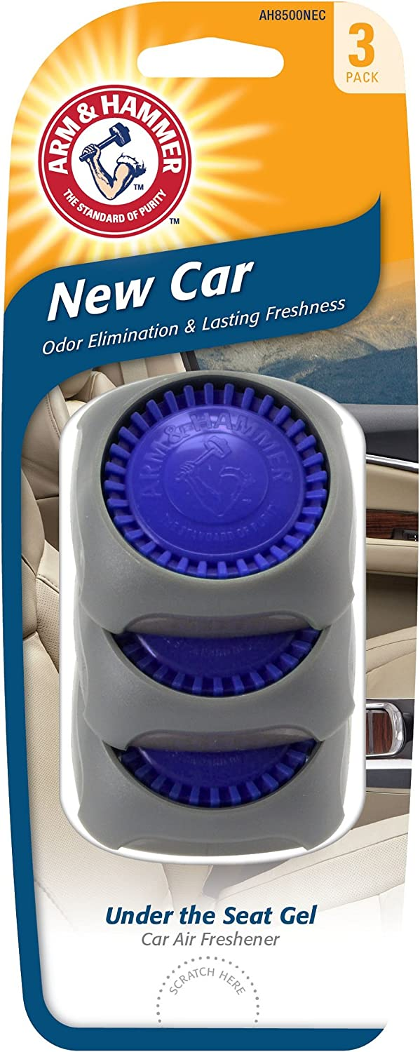 Arm & Hammer AH8500NEC Under The Seat Air Freshener, New Car, Pack of 3