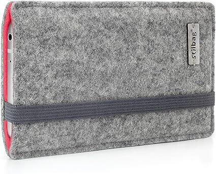 stilbag Funda de Fieltro Finn para Google Pixel 4 XL | Color: Gris/salmón | Bolsa de Fieltro para Smartphone | Cubierta para móvil | Made in Germany: Amazon.es: Electrónica