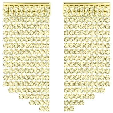 7cf4dc6b78b2 Swarovski Women Gold Plated Dangle   Drop Earrings - 5360978  Amazon.co.uk   Jewellery