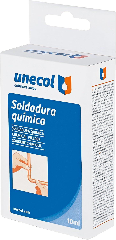 Unecol 8642 Soldadura química (estuche botella), Blanco, 10 ml