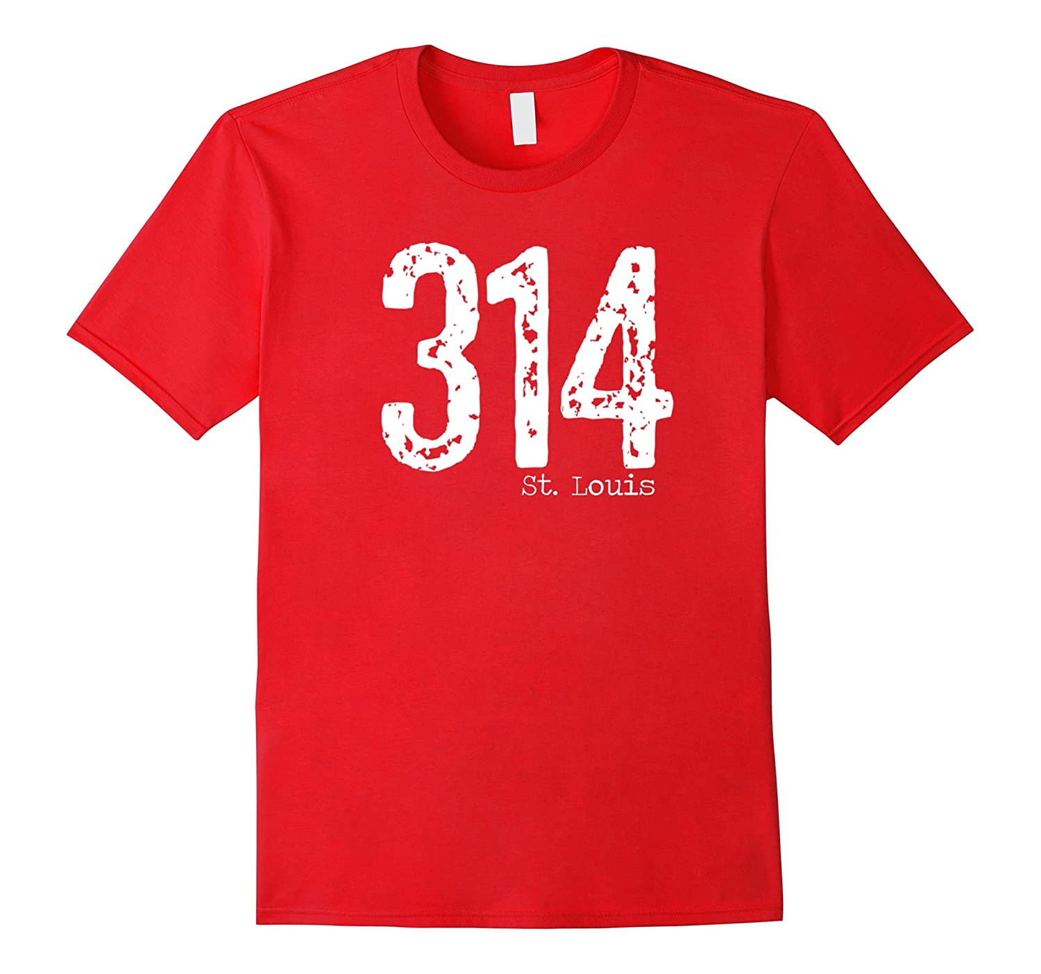 314 St Louis Area Code T-Shirt Distressed Vintage Tee-TH