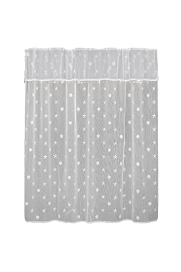 Amazoncom Heritage Lace Sand Shell Shower Curtain And Valance Set
