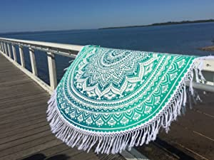 Popular Round Tapestry Ombre Mandala Round Roundie Beach Throw Indian Tapestry Hippie Décor Urban Tapestry Round Table Cloth 70