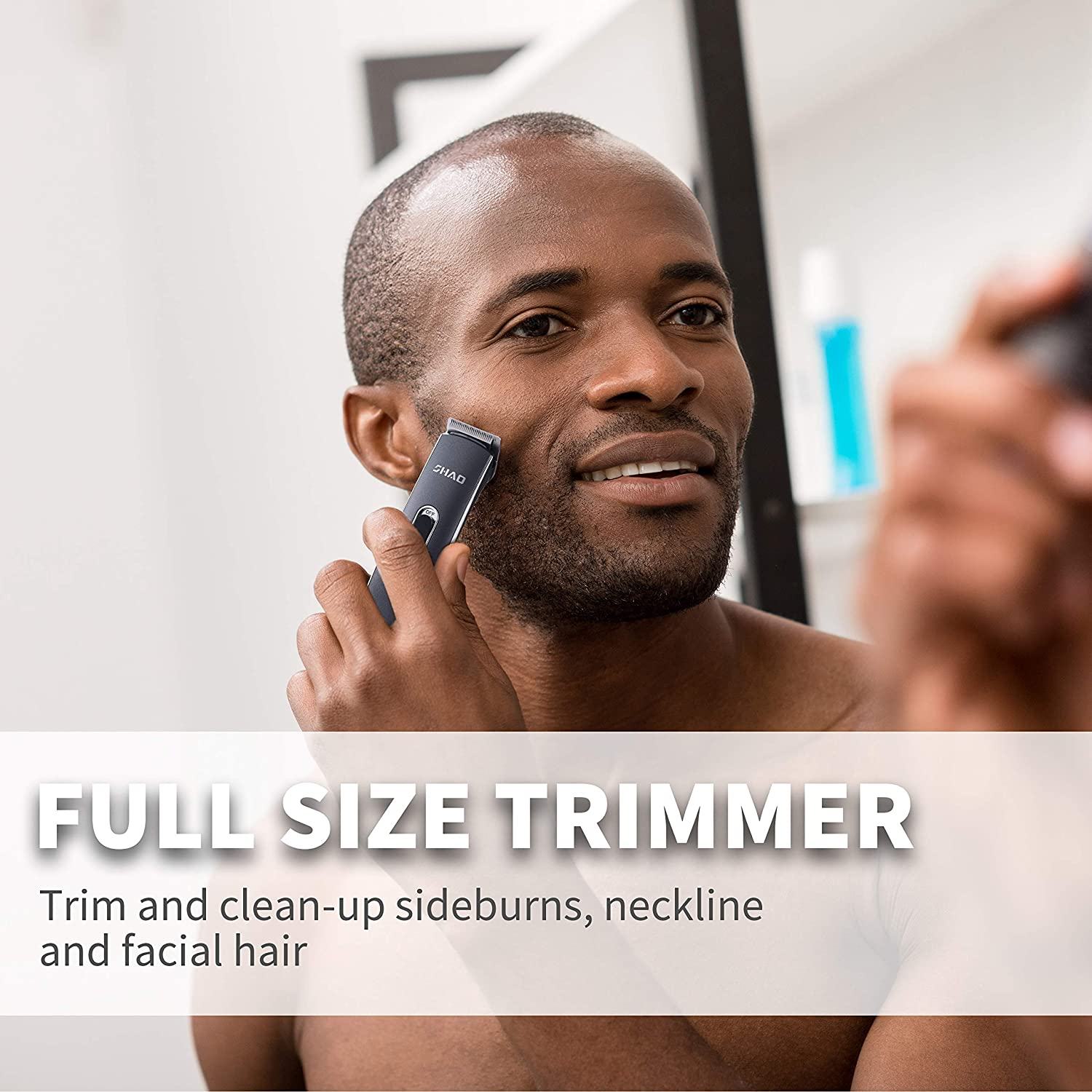 Beard and Mustache Trimmer, All in 1 Multi-functional Hair Trimmer Set (Black)