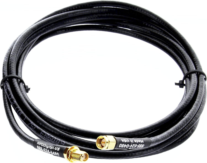 TIMES® LMR195 LOW LOSS FLEX COAX RF CABLE SMA MALE TO UHF SO239 FEMALE RADIO USA