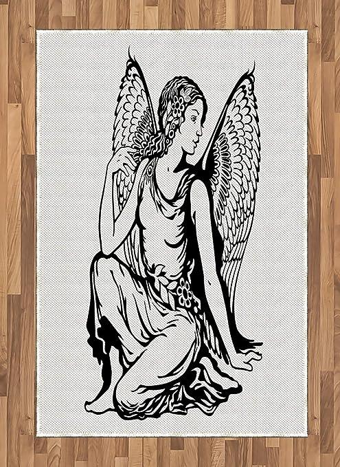 ABAKUHAUS Zodiacal Virgo Alfombra de Área, Tatuaje Joven Ángel ...