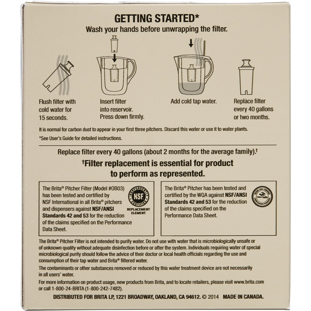Brita Water Pitcher Filter Replacements 2 Count by Brita (Image #7)