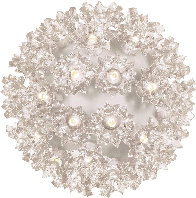 "Wintergreen Lighting LED Starlight Sphere, LED Light Ball Sphere Light, Christmas Light Ball, Christmas Decoration (70 Lights, 6"", Warm White)"