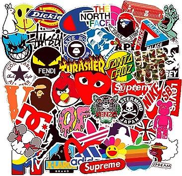 100 Pegatinas con Logotipo de la Marca de Moda para Botella de ...