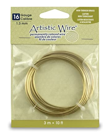 Artistic wire 16 gauge wire center amazon com artistic wire 16 gauge non tarnish brass coil wire 10 feet rh amazon com 16 gauge wire diameter 16 gauge wire diameter greentooth Gallery