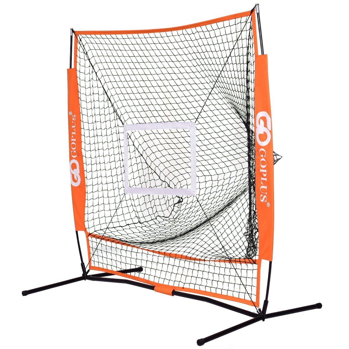 LordBee Orange 5' × 5' New Practice Hitting Baseball Net Fielding, Pitching, Soft Toss, Tee Ball Outdoor Sport Game by LordBee
