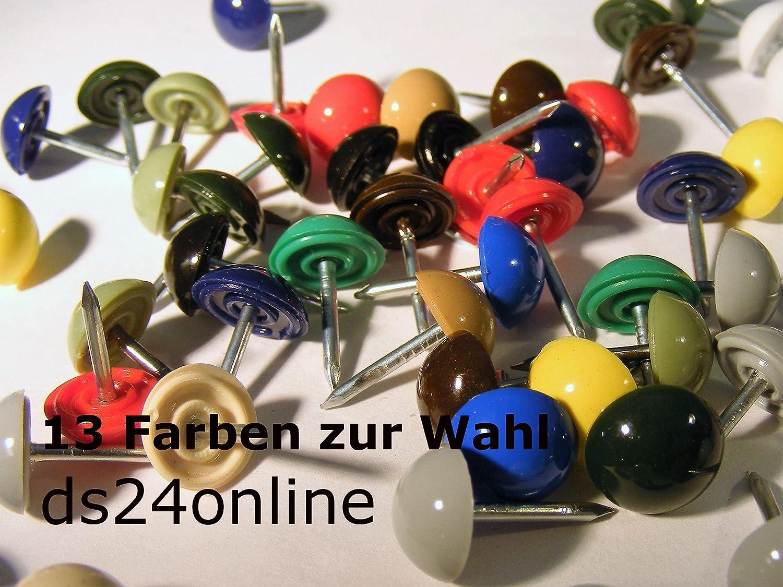 250 Plastik Ziern/ägel blau 10//12 /Ø10mm rostfrei