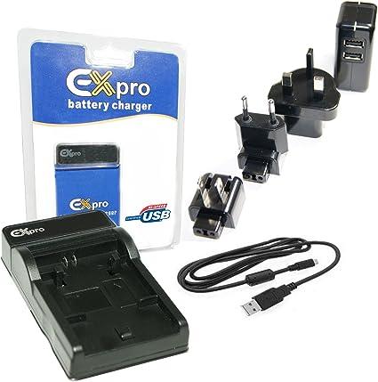 Ex-Pro EZi-Power - Cargador USB para batería Canon LP-E8 (compatible con cargadores LC-E8C y LCE8C) Base & Cab + Wrld Mains: Amazon.es: Informática