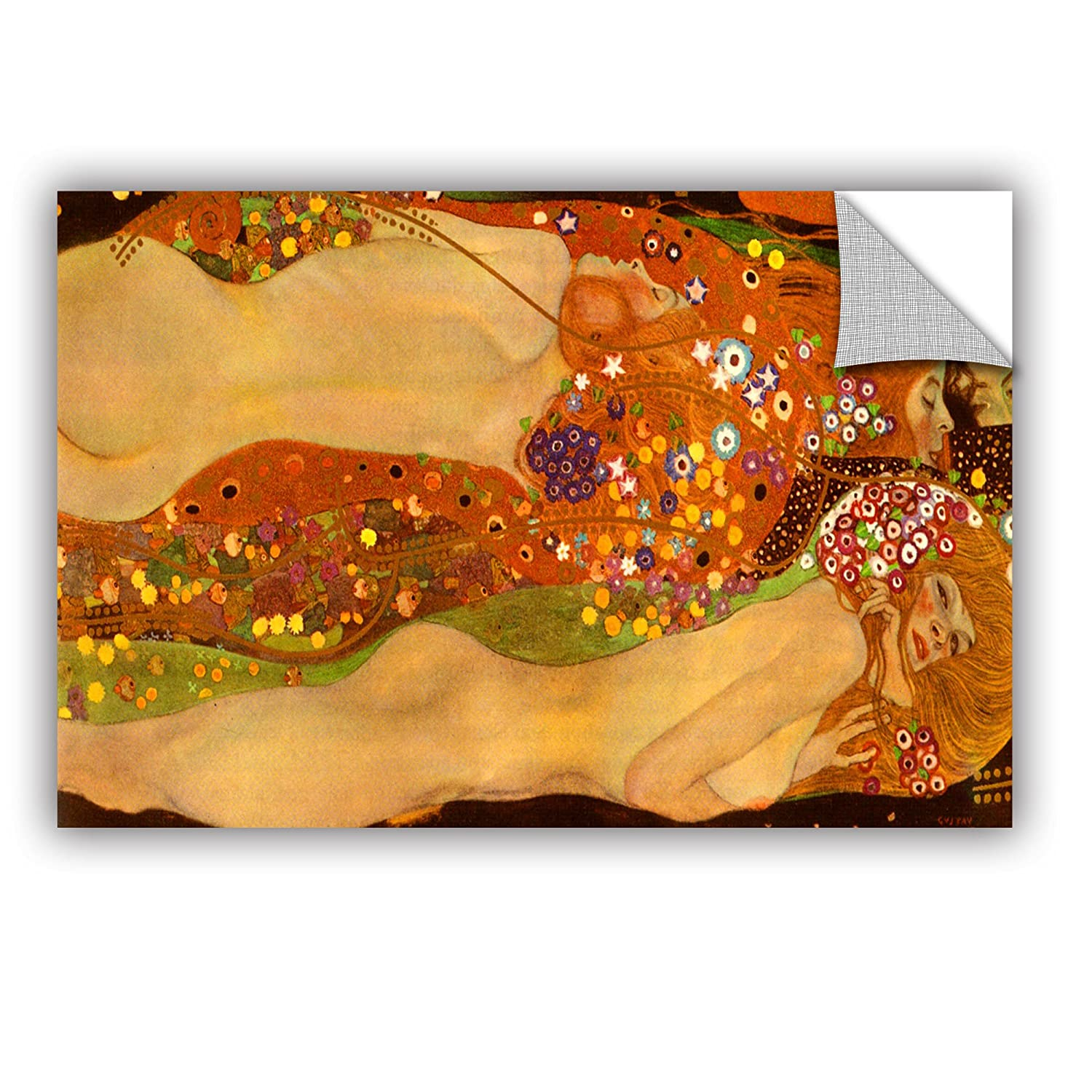 16 by 24 ArtWall Gustav Klimts Water Snakes Appeelz Removable Graphic Wall Art