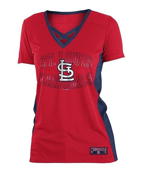 c2fd136ee 5th   Ocean St. Louis Cardinals Women s Logo Arch Polymesh V-Neck T-