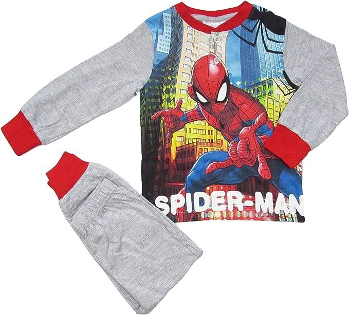 Pigiama invernale per bambino in cotone Spiderman Marvel M085
