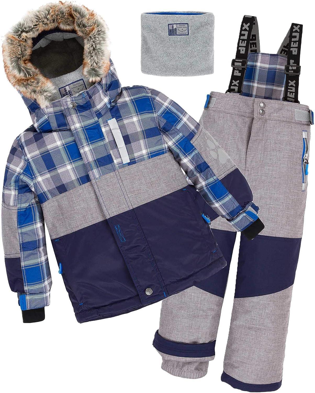 Deux par Deux Boys 2-Piece Snowsuit Meteo Alert Red Sizes 4-14