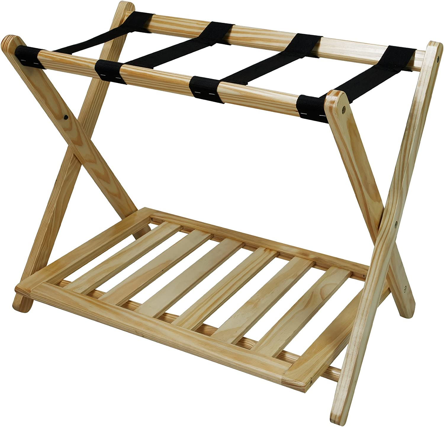 Casual Home Luggage Rack, Natural (New)