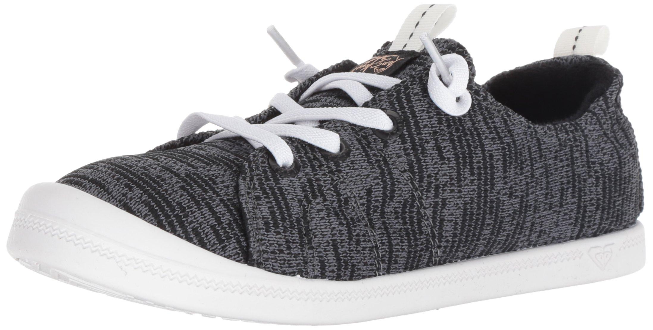 Roxy Women's Bayshore Sport Slip on Shoe Fashion Sneaker, Black, 8.5 M US