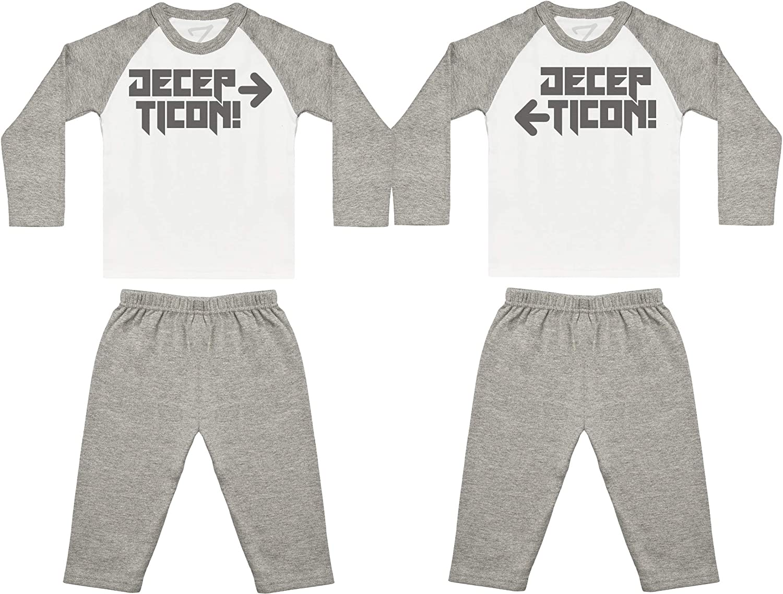 Baby Twins Nightwear Baby Twins Gift Zarlivia Clothing Decepticon Twins Baby Twin Pyjamas