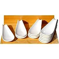 Canape cerámica pantalla cuchara blanco 4,7x 12cm x