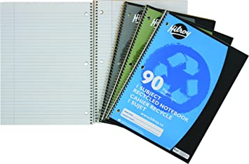 EXERCISE BOOK-9-1//8X7-1//8 PLAIN RECYCLED