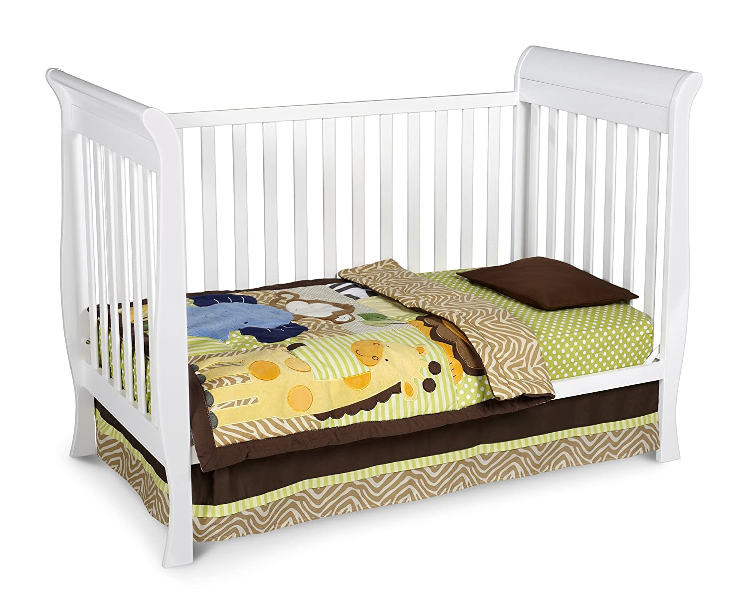 Crib for sale charleston sc - Amazon Com Delta Children Glenwood 3 In 1 Convertible Sleigh Crib White White Baby Crib Baby