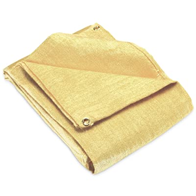 Fiberglass 4' x 6' Welding Blanket, Cover, Retardant | Fireproof. Thermal resistant insulation. Brass grommets for easy Hanging and Protection (Pack of 1): Home Improvement