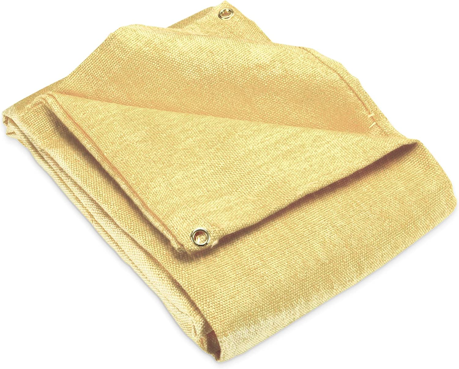 Welding Blanket 4x6 Fiberglass Fireproof Brass grommets for easy Hanging and Protection 2 pack Cover Thermal resistant insulation Retardant