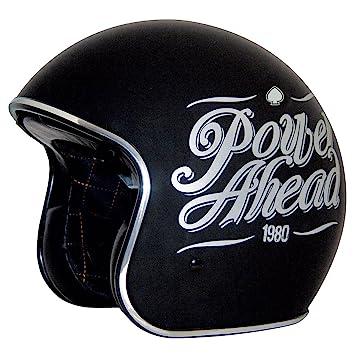 ZOX lema adultos Ruta 80 DDV Cruiser – Casco de Moto, Color Negro