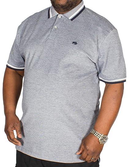 0df2a461bf7 Raging Bull Big Mens Birdseye Pique Polo Shirt Navy 2XL 3XL 4XL 5XL 6XL   Amazon.co.uk  Clothing