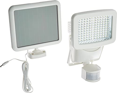 Sunforce 82121 120-LED Solar Motion Light, 1100 Lumen Output, 30ft. 9.1m Detection Distance, 180 Degrees Detection Range, Fully Weather Resistant and can be Mounted Almost Anywhere