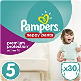 Pampers - Active Fit Pants - Couches-culottes Taille 5 (11-23 kg) - Pack Géant (x30 culottes)