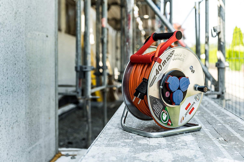 Brennenstuhl Garant S Ip44 Kabeltrommel 40m Kabel In Orange Kabeltrommel Outdoor Mit Trommelkörper Aus Stahlblech Für Den Einsatz Im Außenbereich Made In Germany Baumarkt