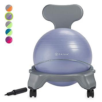 Gaiam Kids Silla con balón de equilibrio - Silla clásica con balón ...