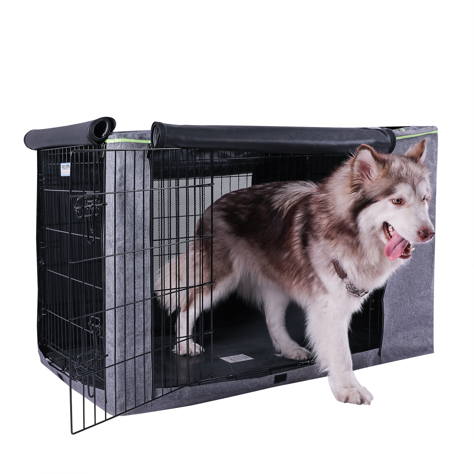 Petsfit 42'' L x 28'' W x 30'' H Extra Side Door Polyester Crate Cover, for 5000 Wire Crate by Petsfit