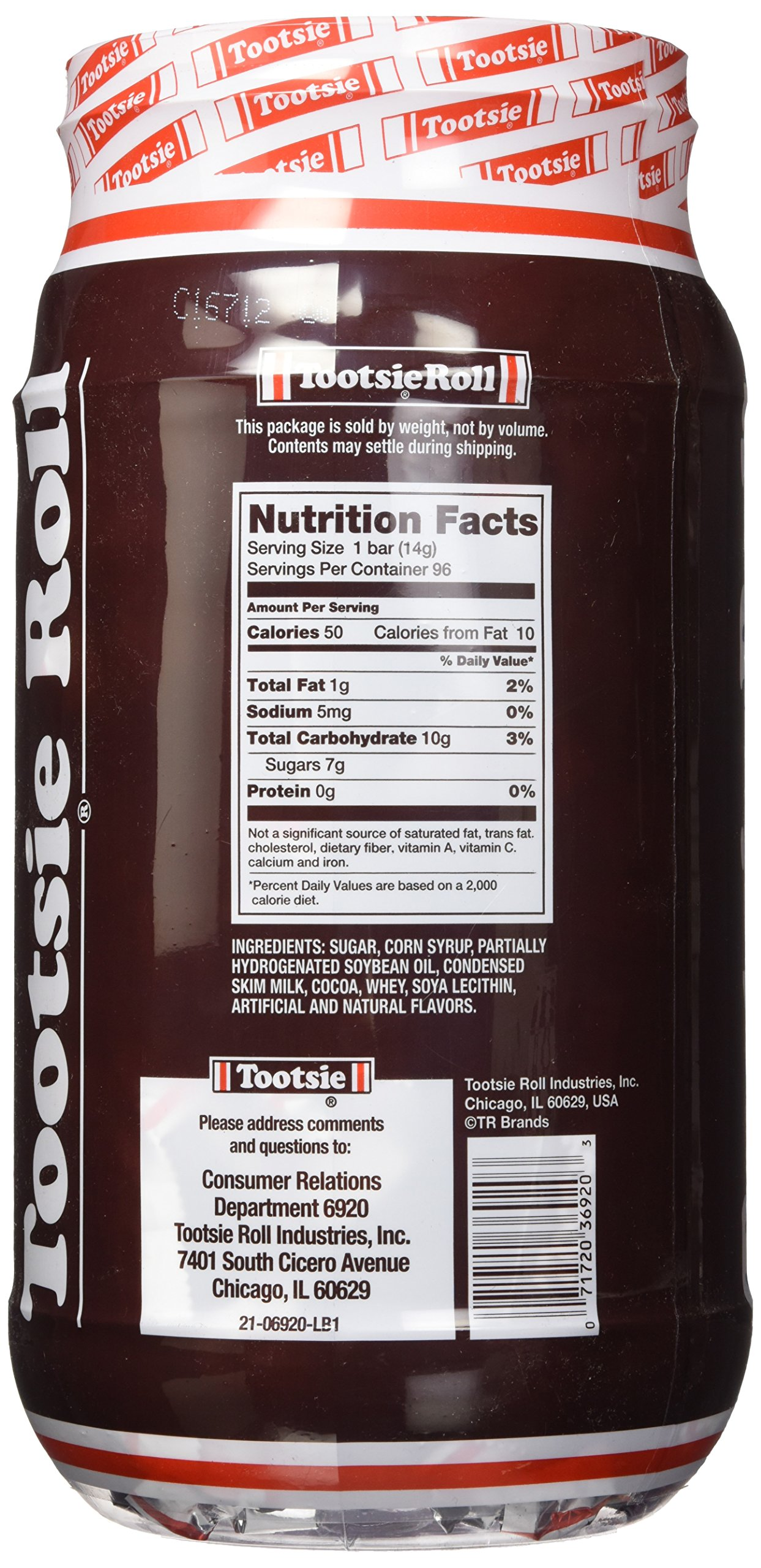 Tootsie Roll 96CT Jar