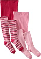 Country Kids Little Girls' Stripe 2 Pack Tights
