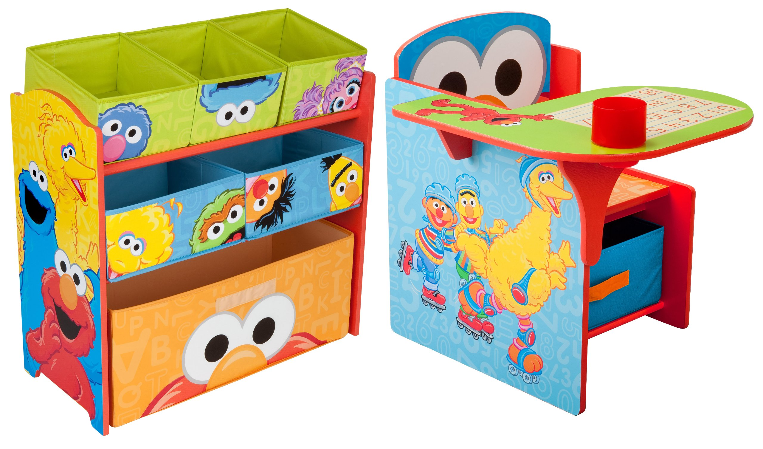 Sesame Street Chair Desk with Multi Bin Organizer