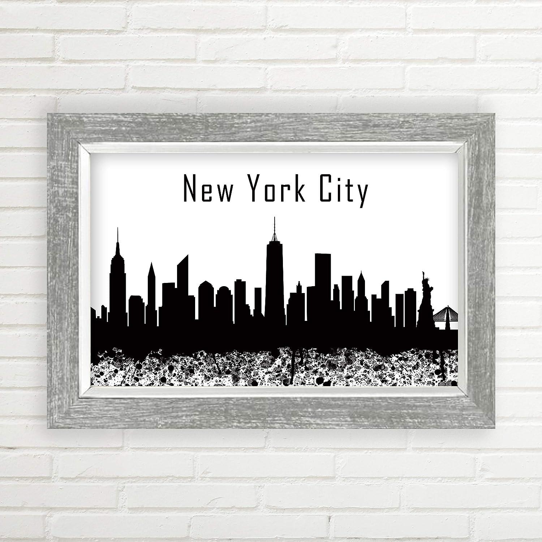 Dreamtree prints new york city unframed skyline print wall art art décor nyc skyline modern black white or trendy pop of color unframed 11x17