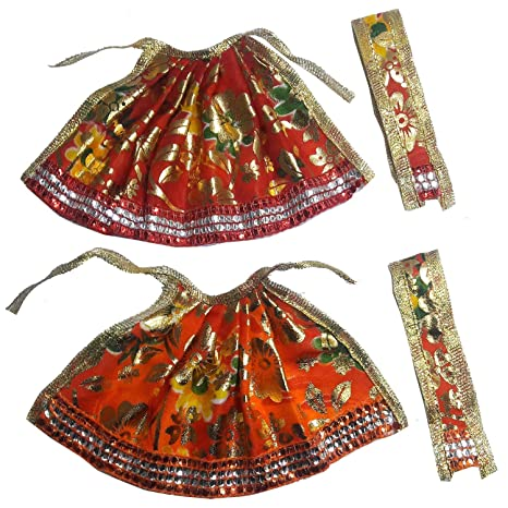 cac85d0d8b Buy Designer Handcrafted Sitra with Lace Work Devi MATA Poshak Set ...