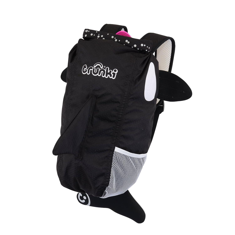Trunki Kid's Waterproof Swim & Gym Bag – PaddlePak Kaito the Whale (Black)