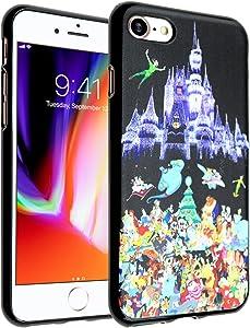 iPhone 8 Disney Priness Castle Case, IMAGITOUCH Disney Princesses Case Anti-Scratch Shock Proof Soft Touch Slim Fit Flexible TPU Case Bumper Cover for iPhone 8 Disney Characters Princesses TPU