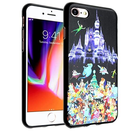 low priced 73129 92c89 Disney Castle iPhone 7 Case, IMAGITOUCH Disney Princess Case Anti-Scratch  Shock Proof Soft Touch Slim Fit Flexible TPU Case Bumper Cover for Apple ...