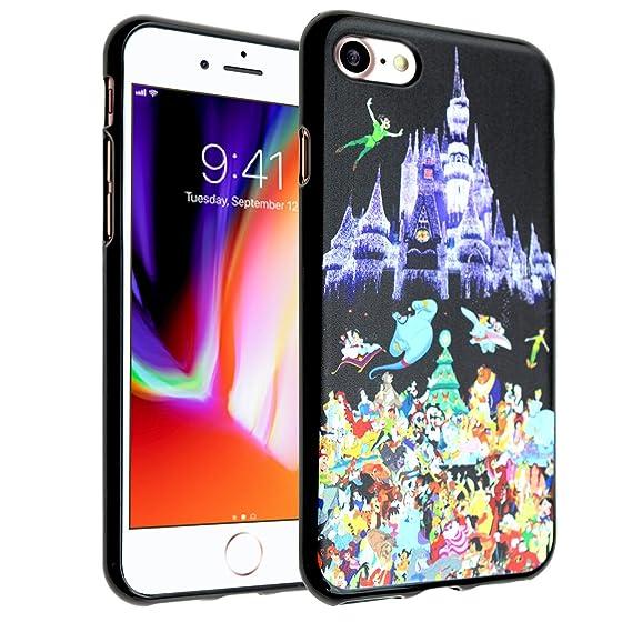 low priced 27e3e 2bb57 Disney Castle iPhone 7 Case, IMAGITOUCH Disney Princess Case Anti-Scratch  Shock Proof Soft Touch Slim Fit Flexible TPU Case Bumper Cover for Apple ...