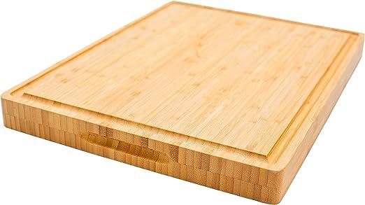 Conjunto de 6 Peces De Carne Comida queso de madera de bambú picar Board Con Soporte De Corte